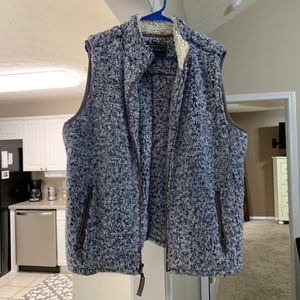 True Grit Frosty Tipped Double Up Vest in Blue